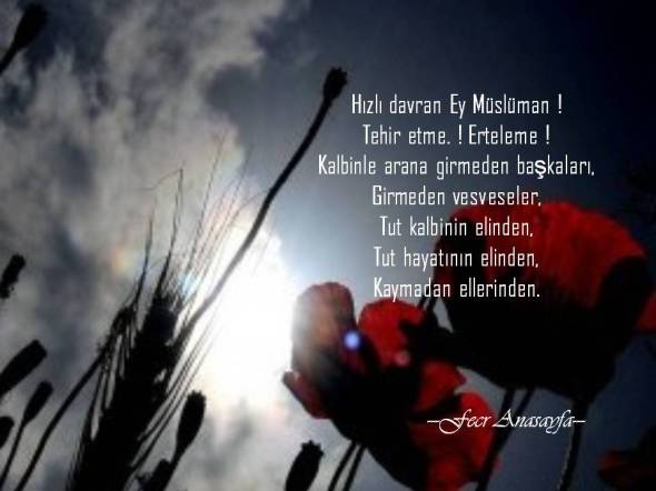 Hızlı davran Ey Müslüman !