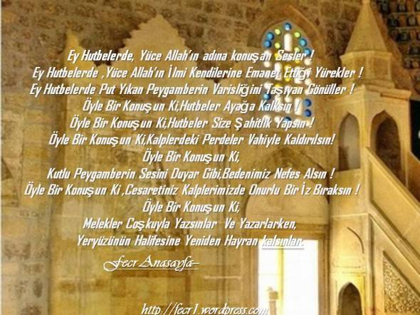 Ey Hutbelerde, Yüce Allah'ın Adına Konuşan Sesler