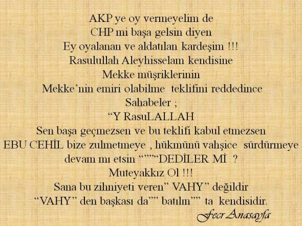 AKP ye oy vermeyelim de